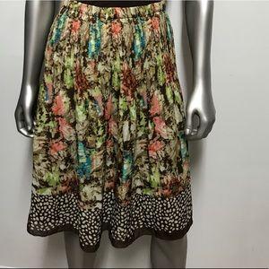Sunny Leigh floral Pleated flowy skirt sz medium
